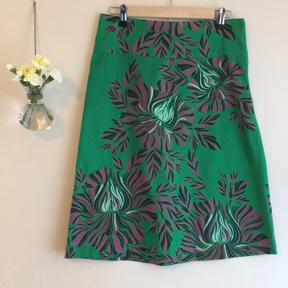 65a086f2f8 Anthropologie Dresses & Skirts - Anthropologie Monsoon A-Line cotton skirt  size 8